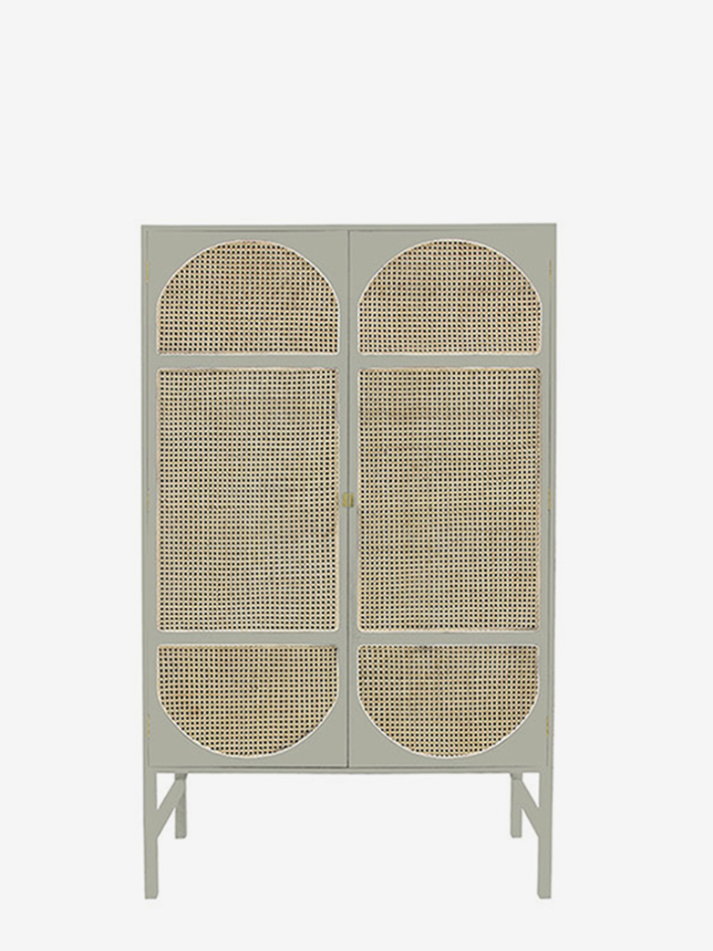 Retro Webbing Clothing Cabinet – Grey