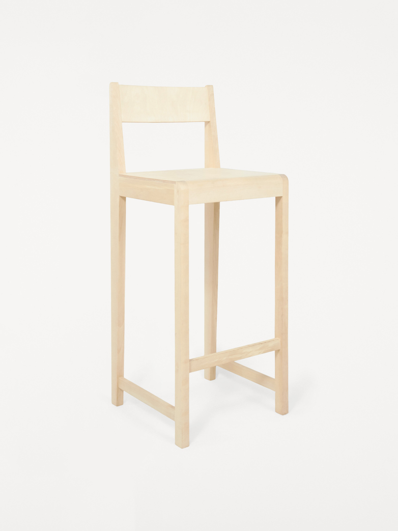 Stool 01 - Natural Wood Frame / Natural Wood Seat