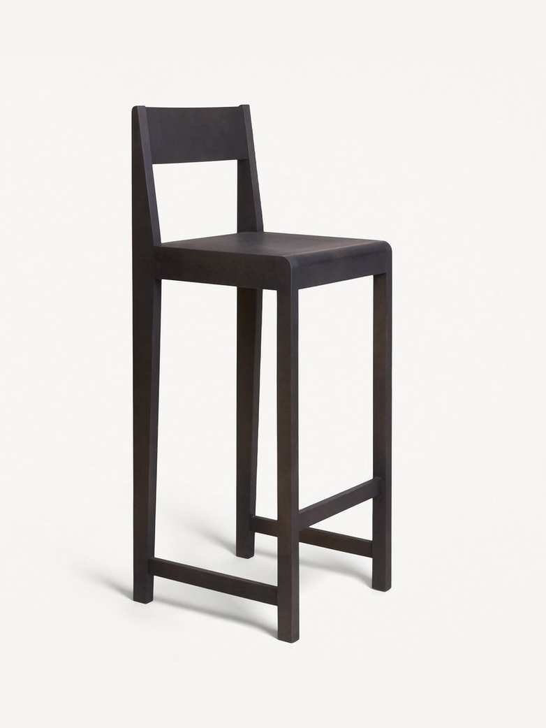 Stool 01 - Ash Black Wood Frame / Ash Black Wood Seat