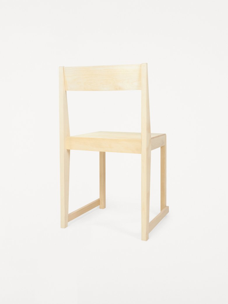 Chair 01 -  Natural Wood Frame / Natural Wood Seat