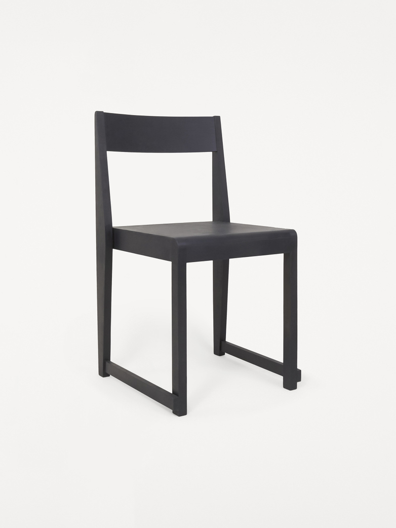 Chair 01 -  Ash Black Frame / Ash Black Wood Seat