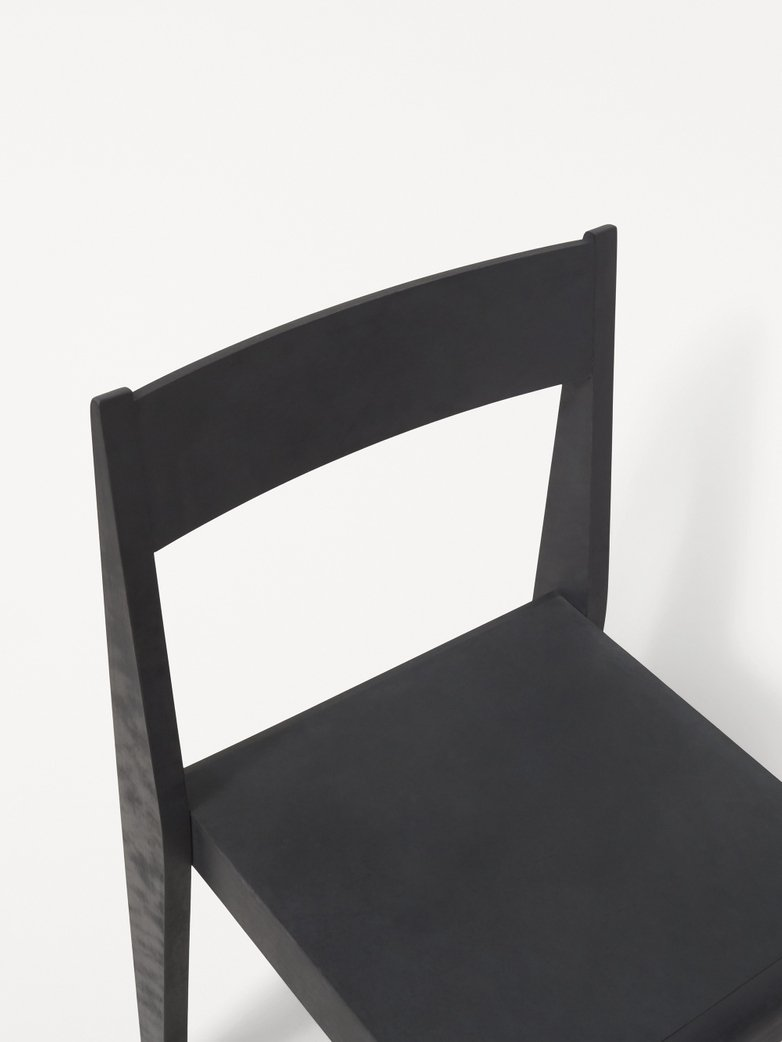 Chair 01 -  Ash Black Frame / Ash Black Leather Seat
