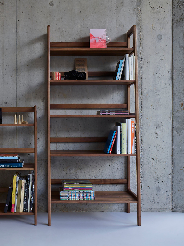 Agnes Shelving High – Walnut