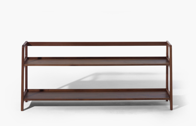 Agnes Long Shelving – Walnut