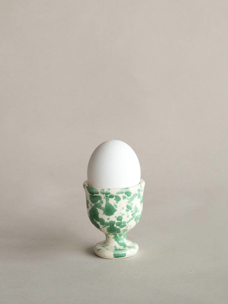 Spruzzi Vivente - Egg Cup - Green on Creme