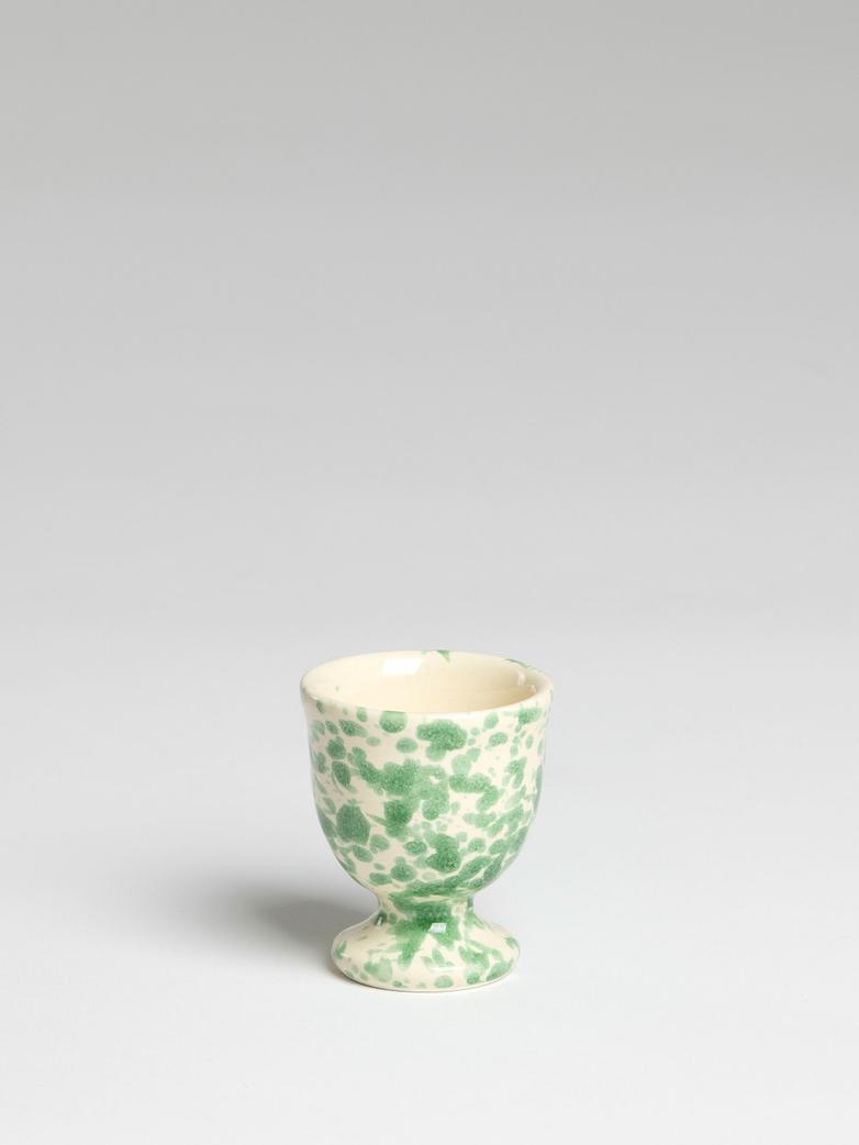 Spruzzi Vivente - Egg Cup - Green on Creme