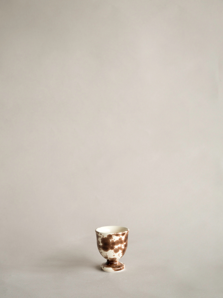 Spruzzi Vivente - Egg Cup - Creme/Brown