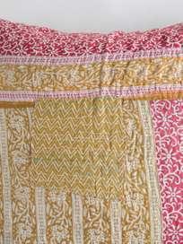 Sari Kantha – Yellow/Red – 65 x 65
