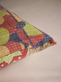 Sari Kantha – Green/Red – 65 x 65