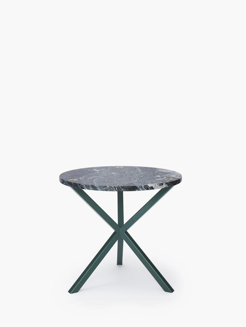 NEB Round Side Table – Granite/Green
