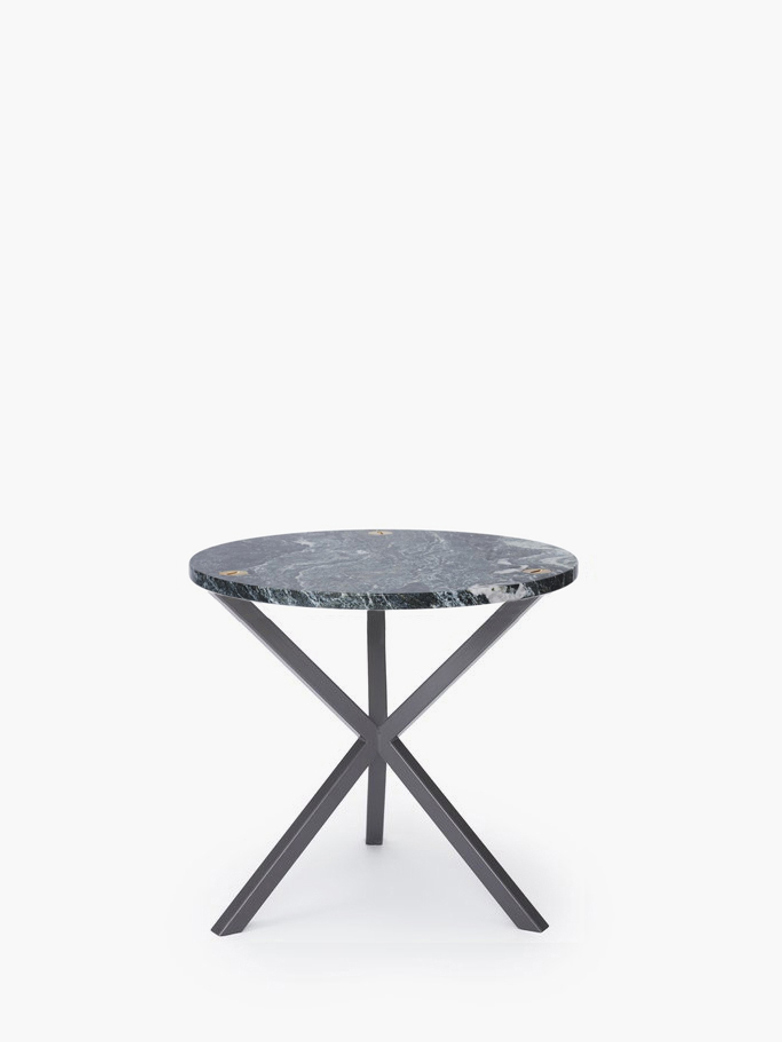 NEB Round Side Table – Granite/Grey – Low