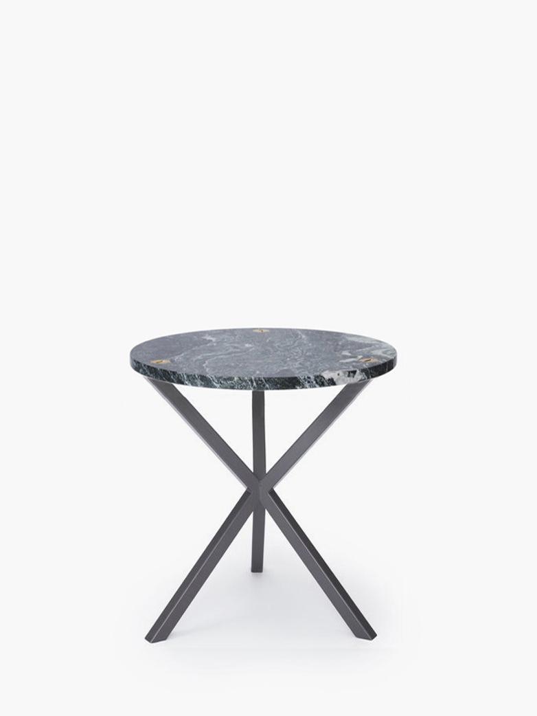 NEB Round Side Table – Granite/Grey – Medium
