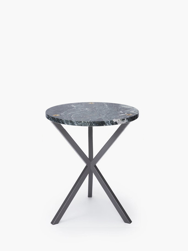 NEB Round Side Table – Granite/Grey – High
