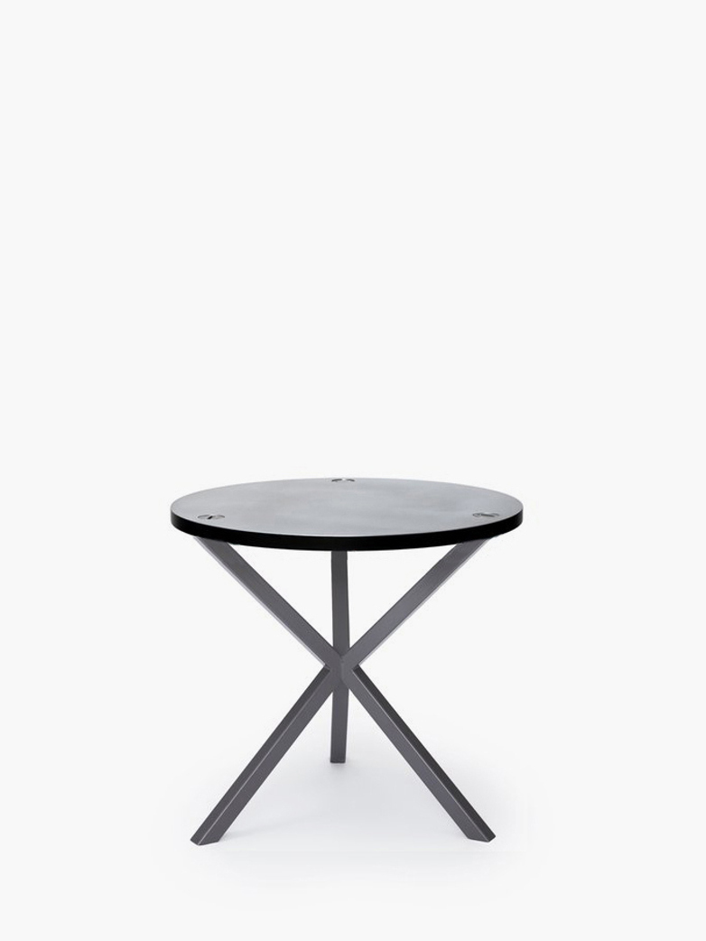 NEB Round Side Table – Zinc/Grey