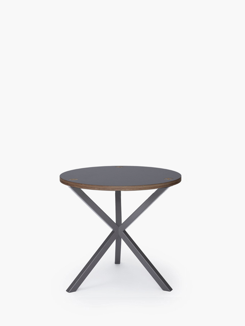NEB Round Side Table – Grey Laminate/Grey