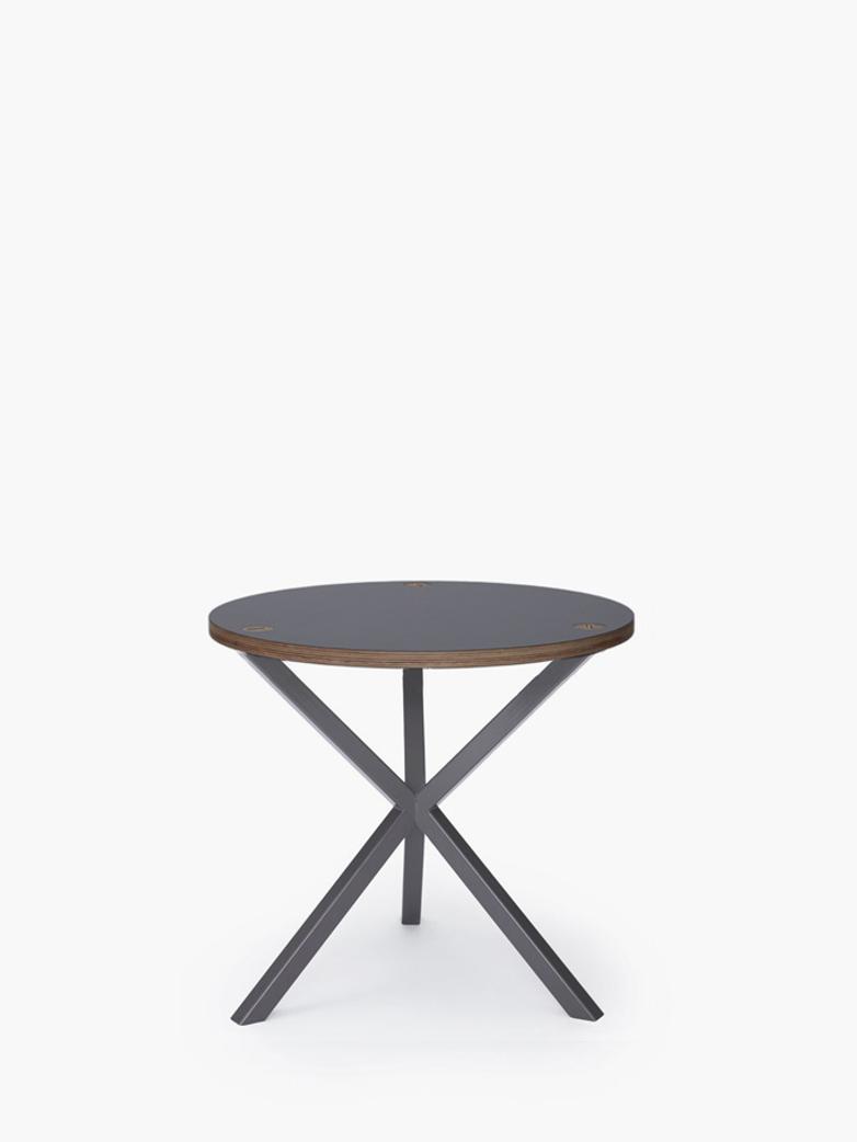NEB Round Side Table – Grey Laminate/Grey