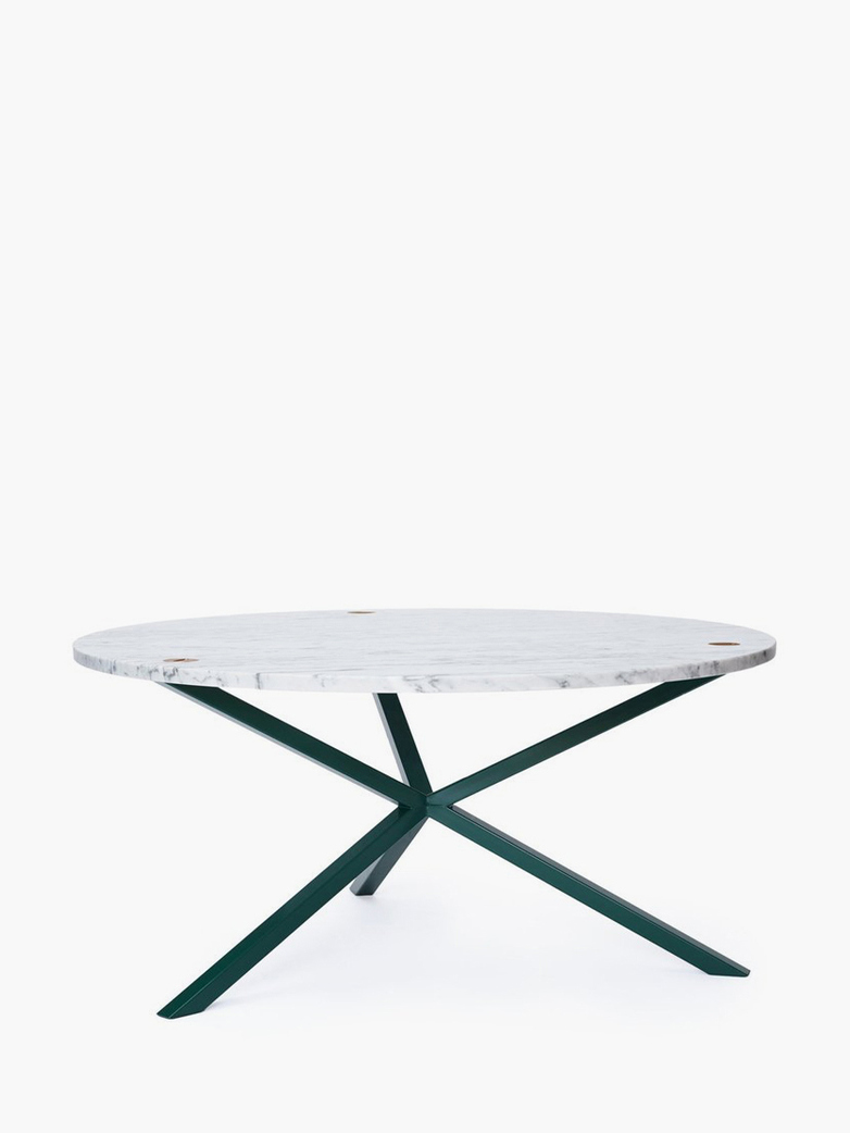 NEB Round Coffee Table – Marble/Green