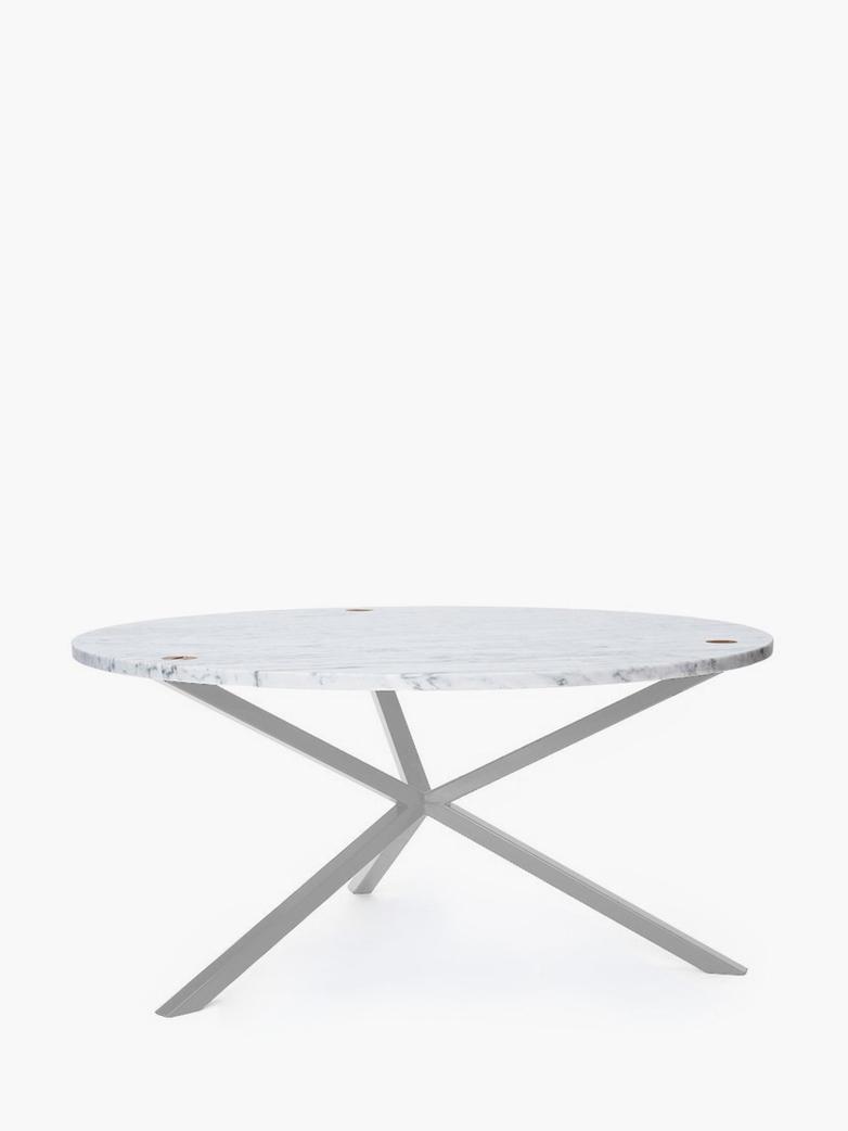 NEB Round Coffee Table – Marble/White