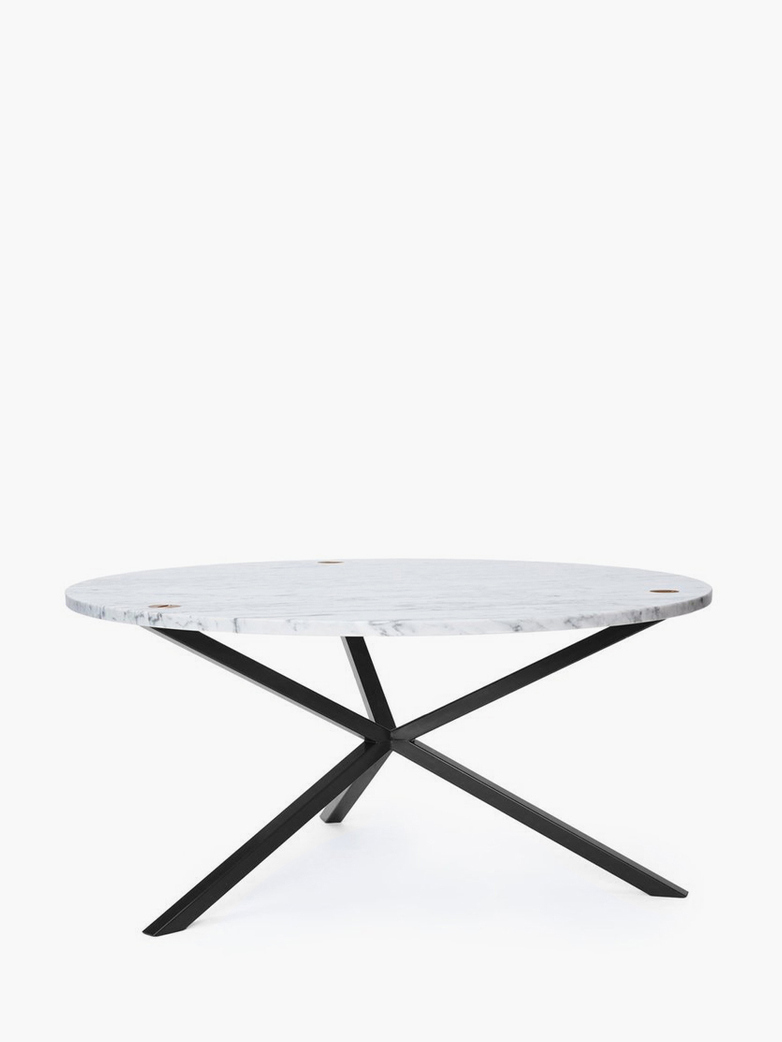 NEB Round Coffee Table – Marble/Black