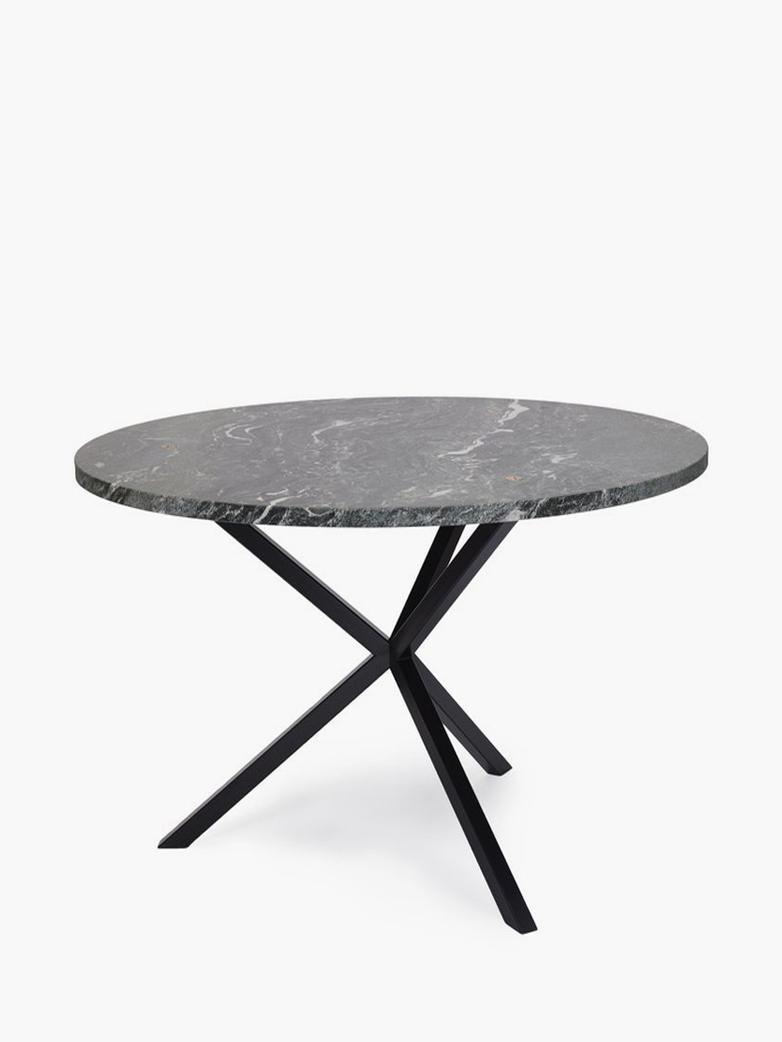 NEB Round Dining Table – Verde Italia Granite – Black – Ø100