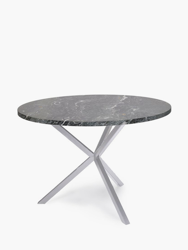 NEB Round Dining Table – Granite/White – Ø100
