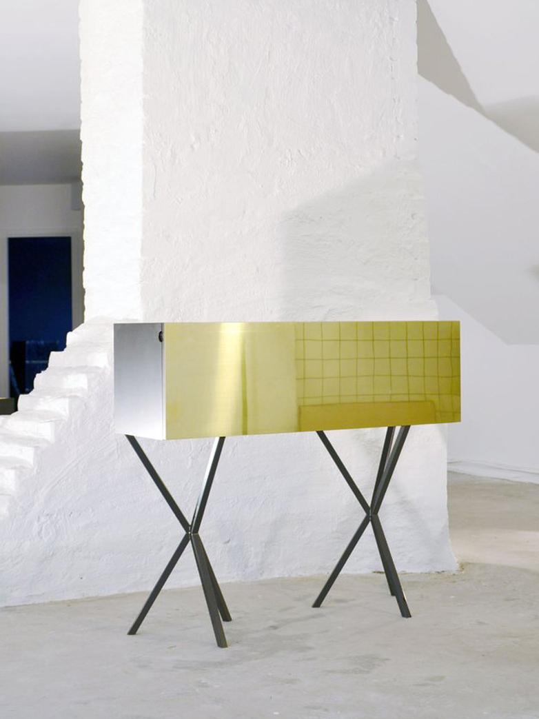 NEB Bureau – Brass/Grey