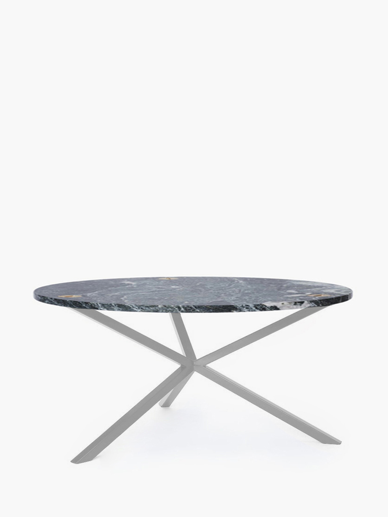 NEB Round Coffee Table – Granite/White