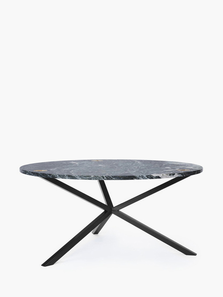 NEB Round Coffee Table – Granite/Black