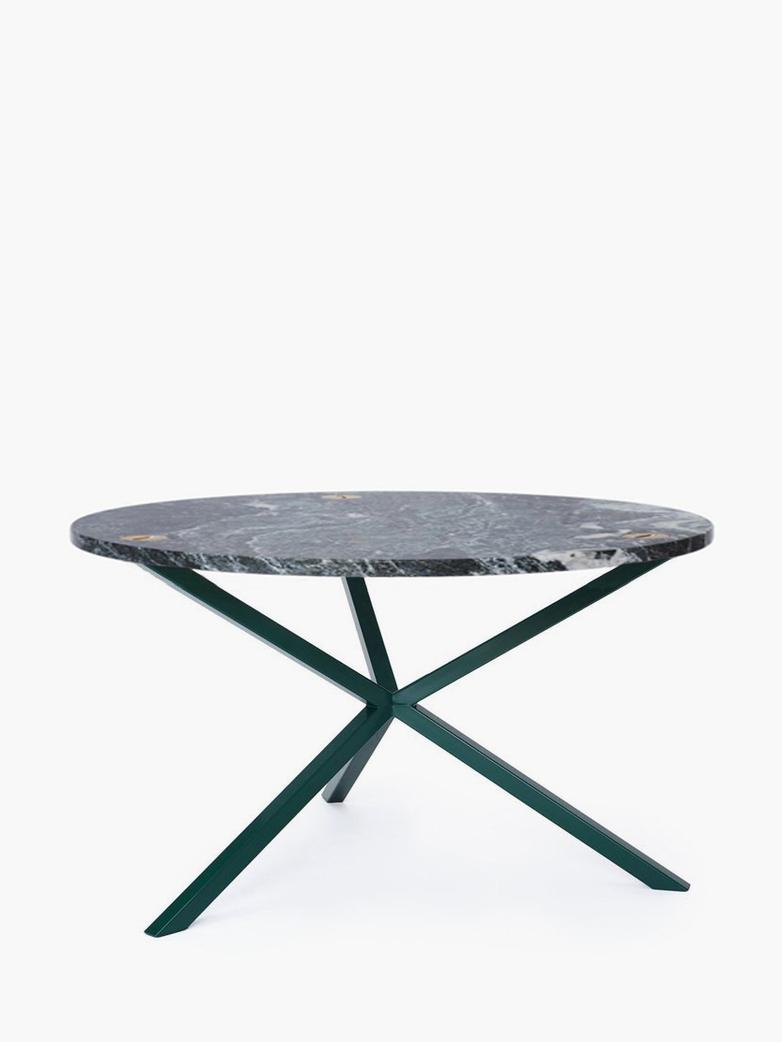 NEB Round Coffee Table – Granite/Green – Ø80 – High