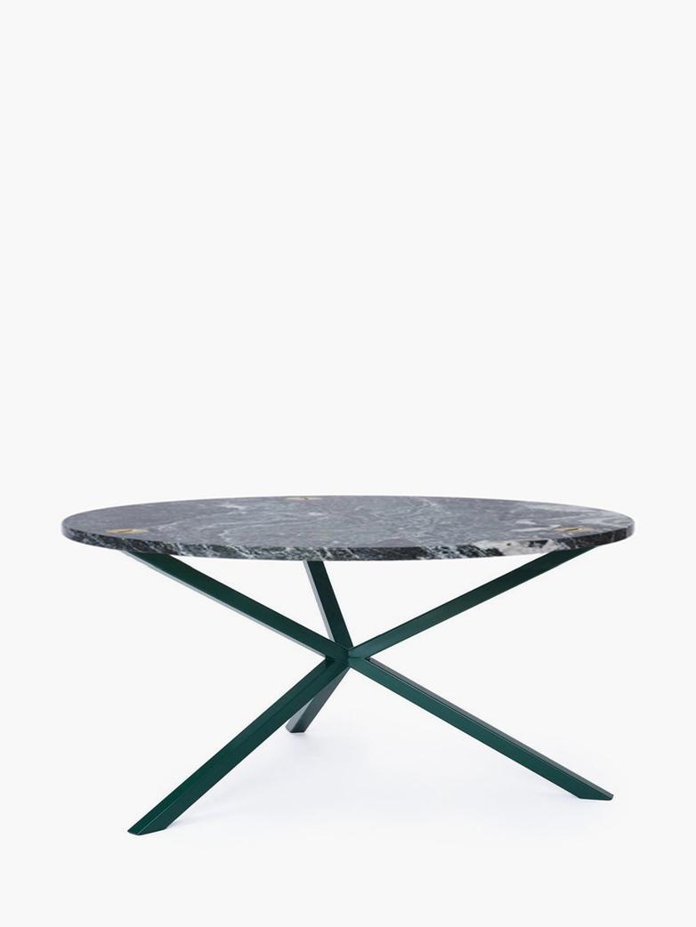 NEB Round Coffee Table – Granite/Green – Ø100 – Low