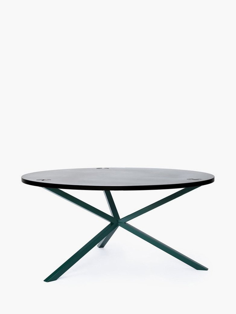 NEB Round Coffee Table – Zinc/Green
