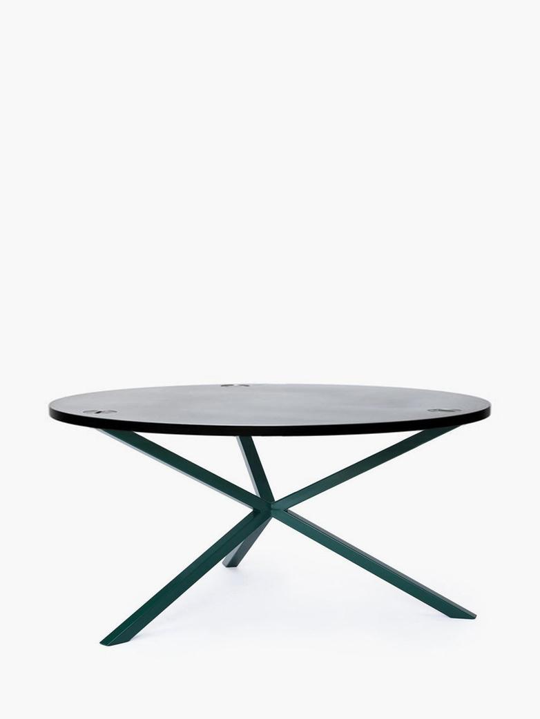 NEB Round Coffee Table – Zinc/Green