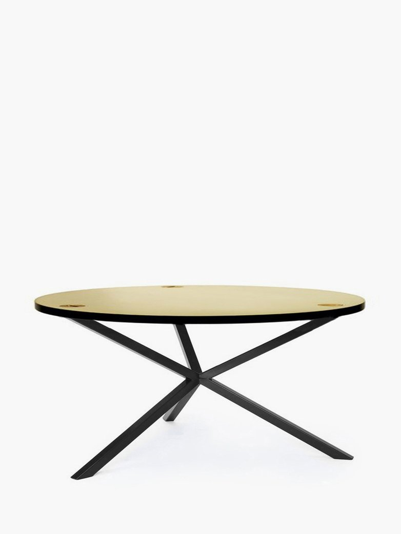 NEB Round Coffee Table – Brass/Black