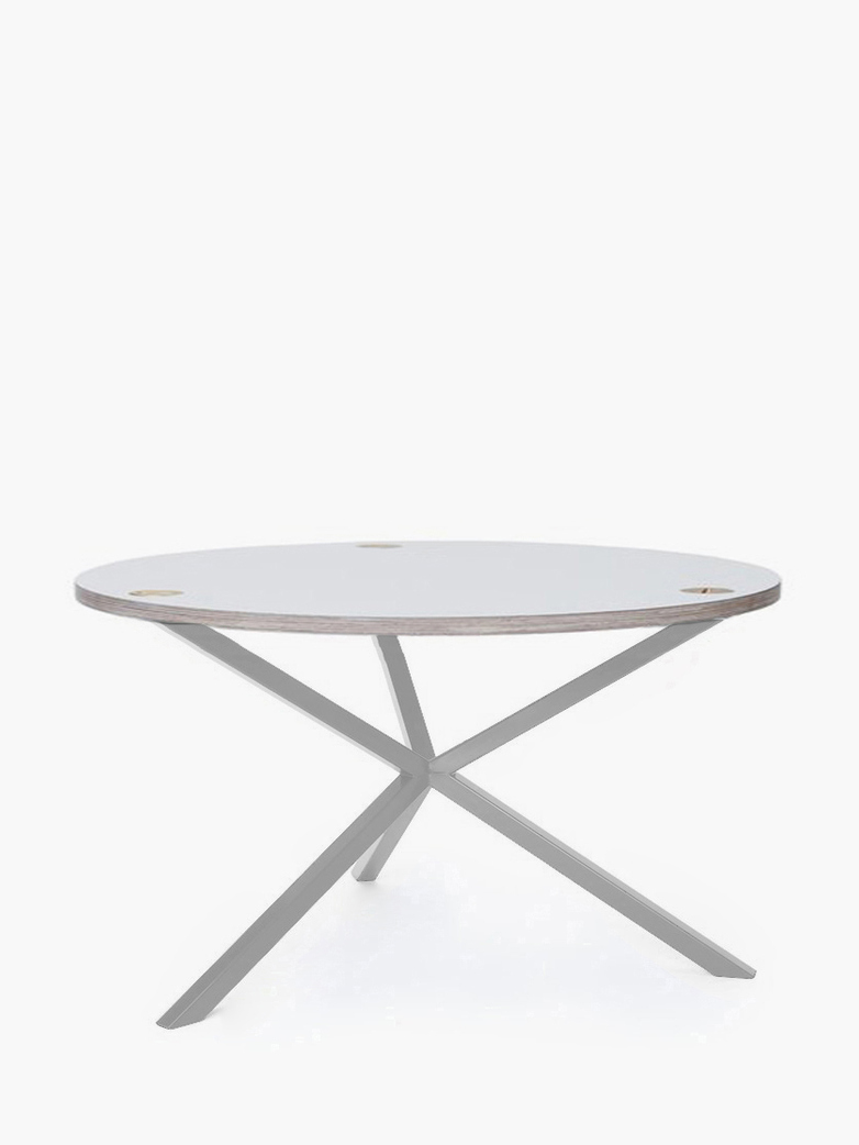 NEB Round Coffee Table – White Laminate/White – Ø80 – High
