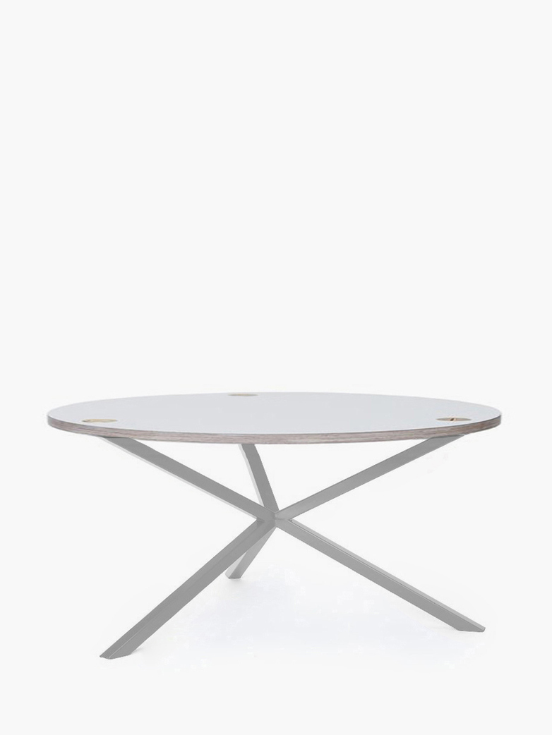 NEB Round Coffee Table – White Laminate/White – Ø100 – Low