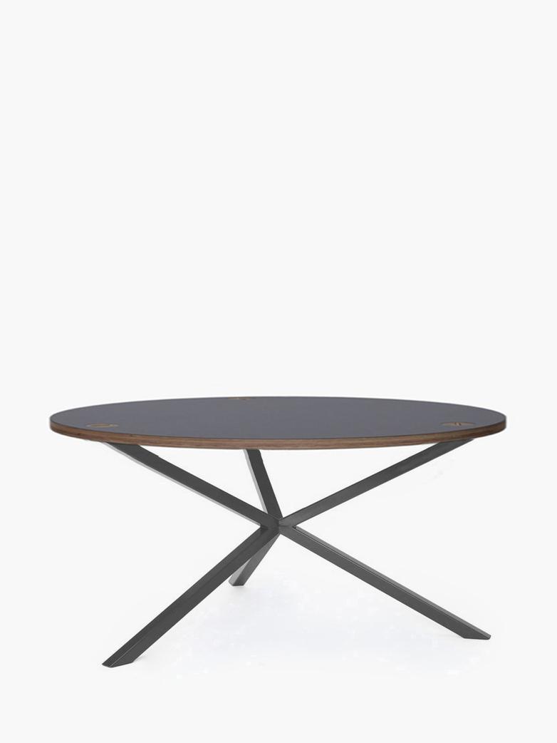 NEB Round Coffee Table – Grey Laminate/Grey – Ø100 – Low
