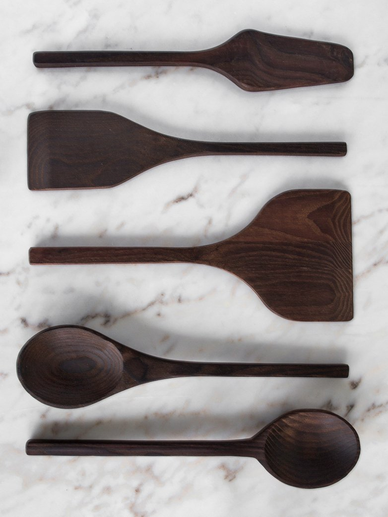 Kitchen Tools Pure Wood Set of 5