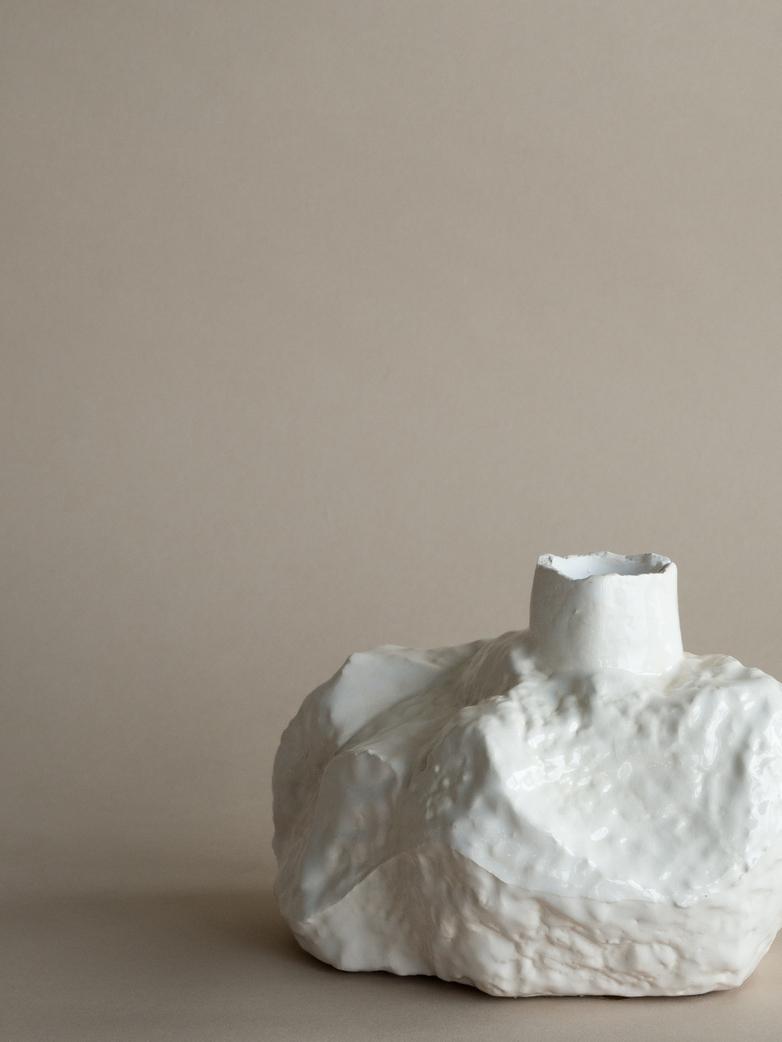 Moonstone Vase Low