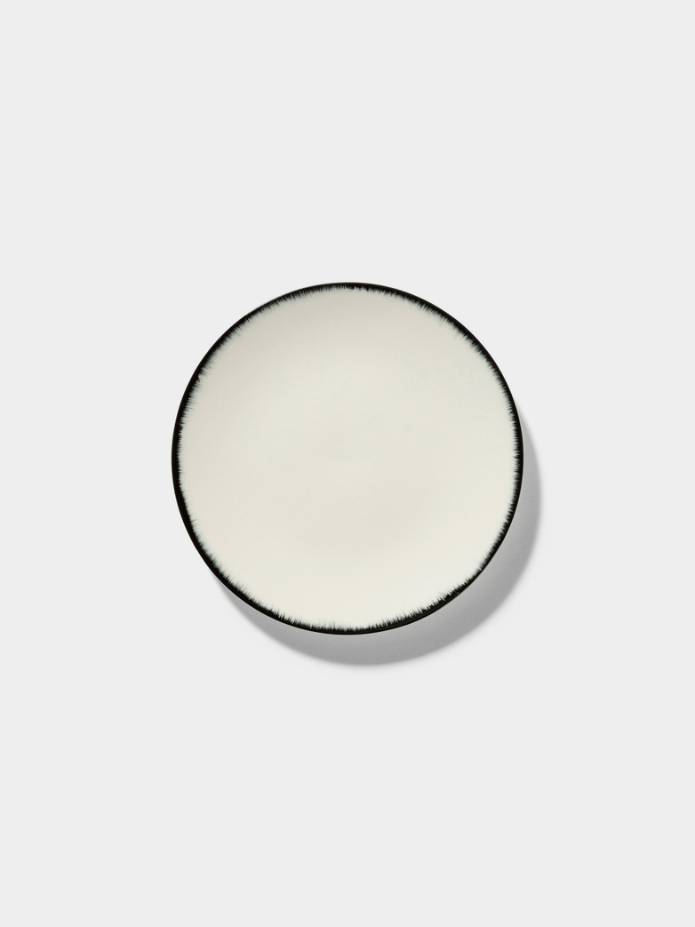 Ann Demeulemeester - Plate 14 cm Off White - Black No1