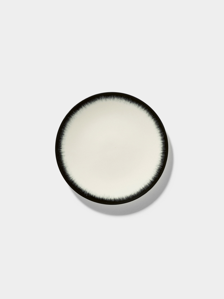 Ann Demeulemeester - Plate 14 cm Off White - Black No3