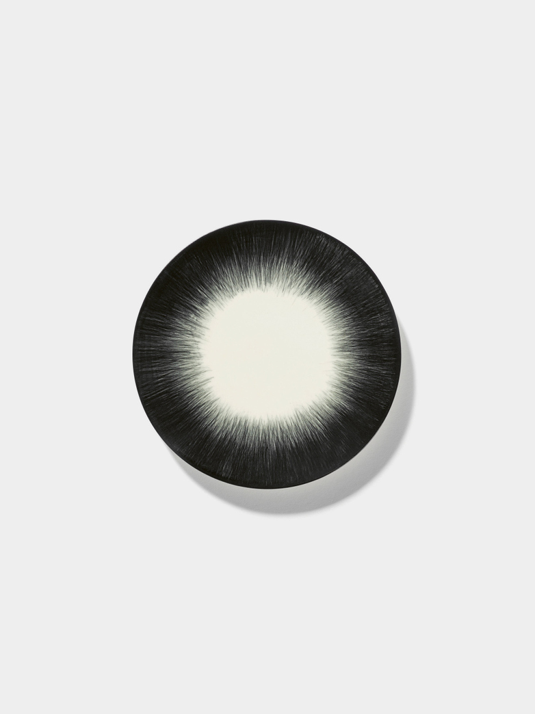 Ann Demeulemeester - Plate 14 cm Off White - Black No4