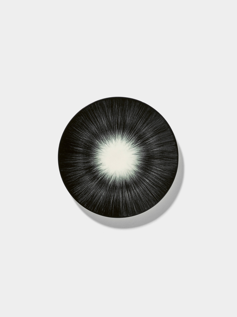 Ann Demeulemeester - Plate 14 cm Off White - Black No5