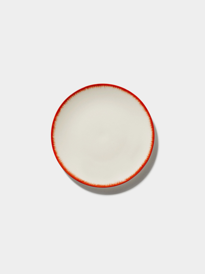 Ann Demeulemeester - Plate 14 cm Off White - Red No2
