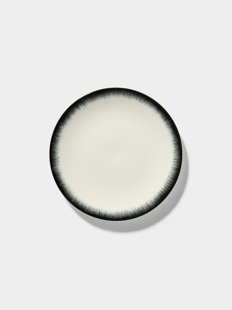 Ann Demeulemeester - Plate 17,5 cm Off White - Black No3