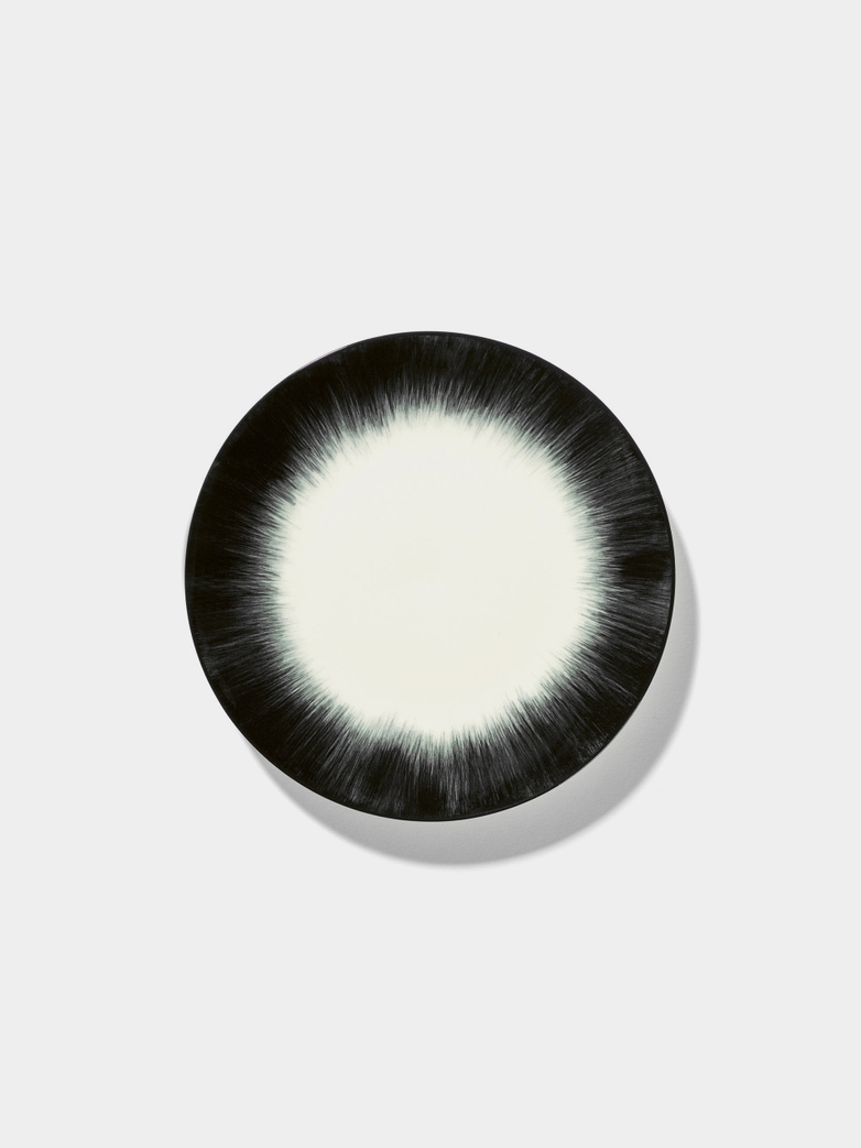 Ann Demeulemeester - Plate 17,5 cm Off White - Black No4