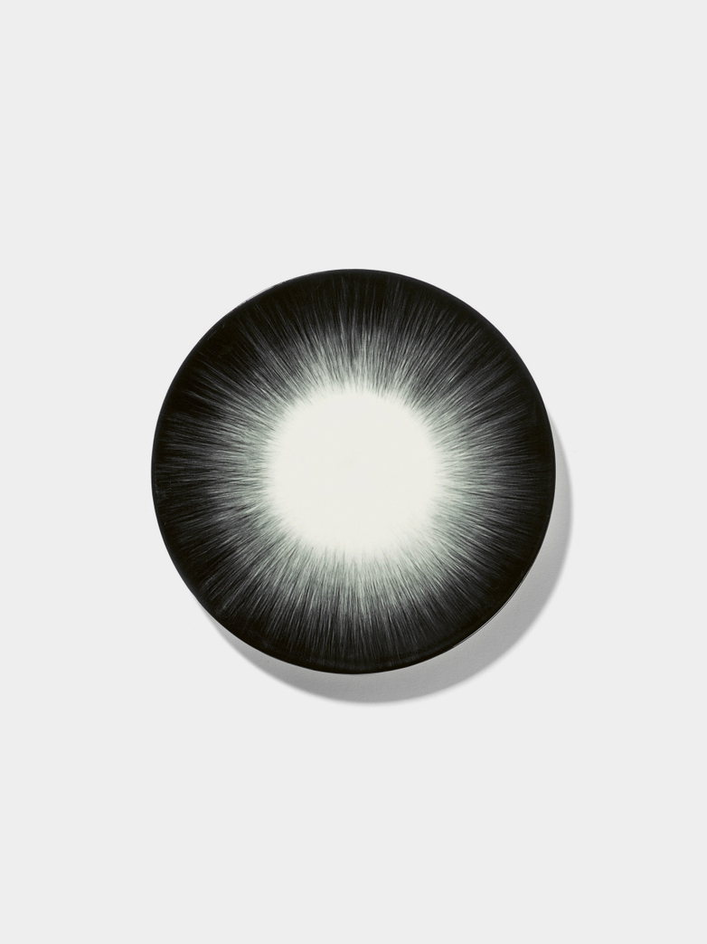 Ann Demeulemeester - Plate 17,5 cm Off White - Black No5