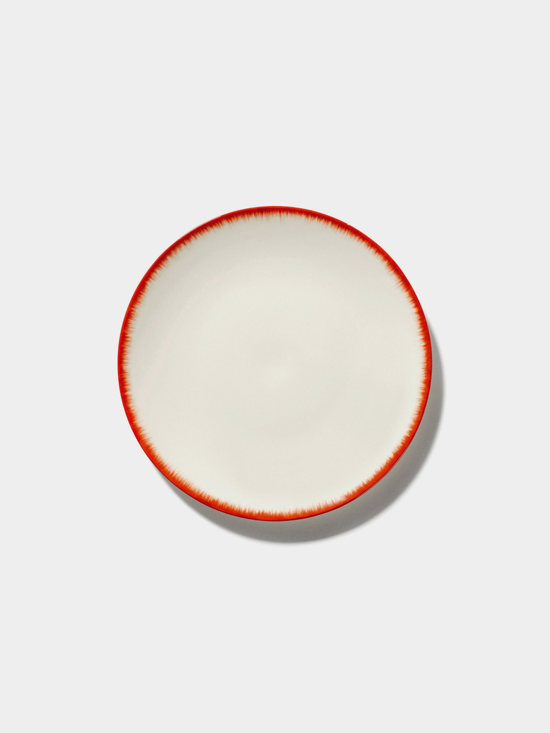 Ann Demeulemeester - Plate 17,5 cm Off White - Red No2