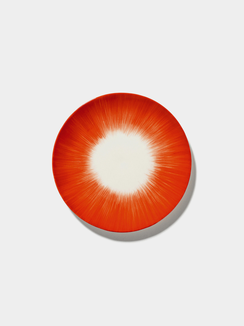 Ann Demeulemeester - Plate 17,5 cm Off White - Red No5