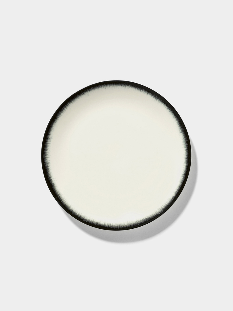 Ann Demeulemeester - Plate 24 cm Off White - Black No3