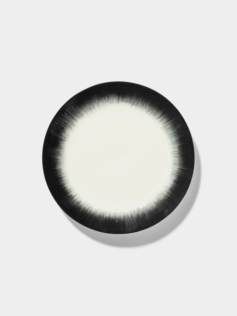 Ann Demeulemeester - Plate 24 cm Off White - Black No4